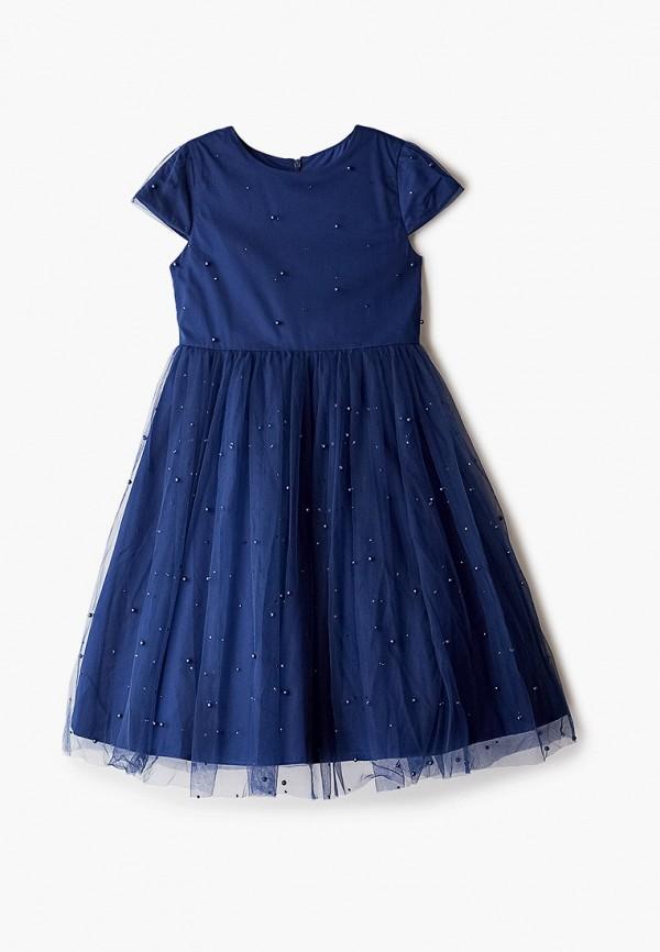 платье button blue для девочки, синее