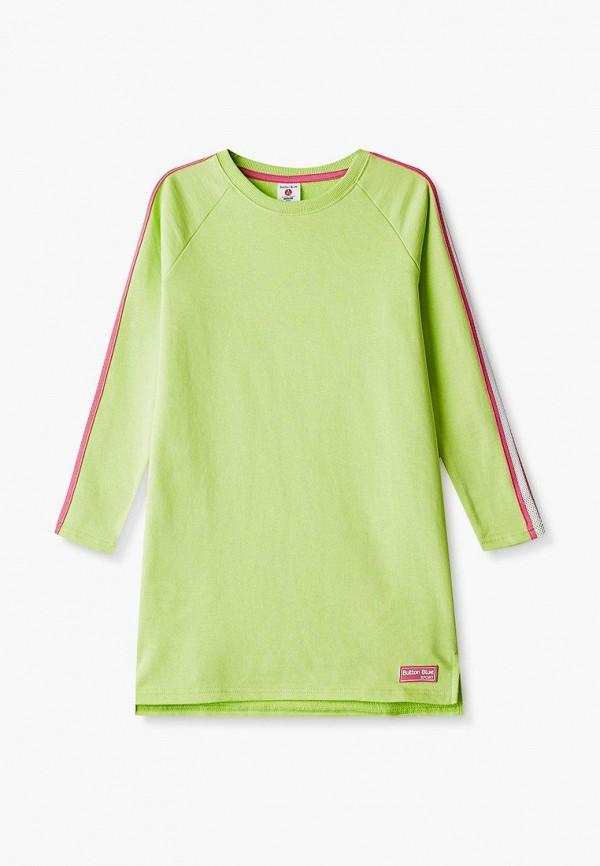 повседневные платье button blue для девочки, зеленое