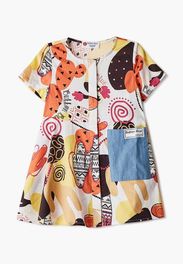 повседневные платье button blue для девочки, разноцветное