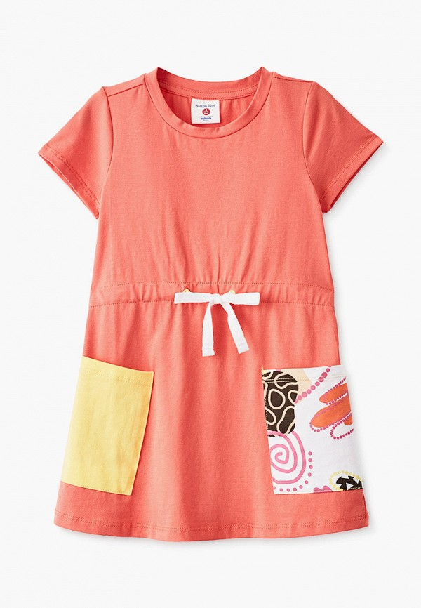 повседневные платье button blue для девочки, оранжевое