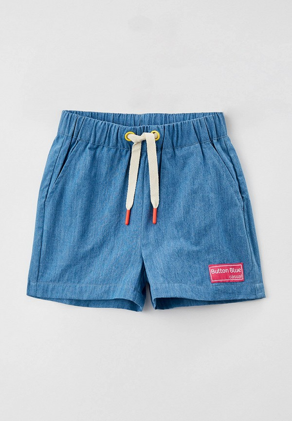 шорты button blue для девочки, голубые