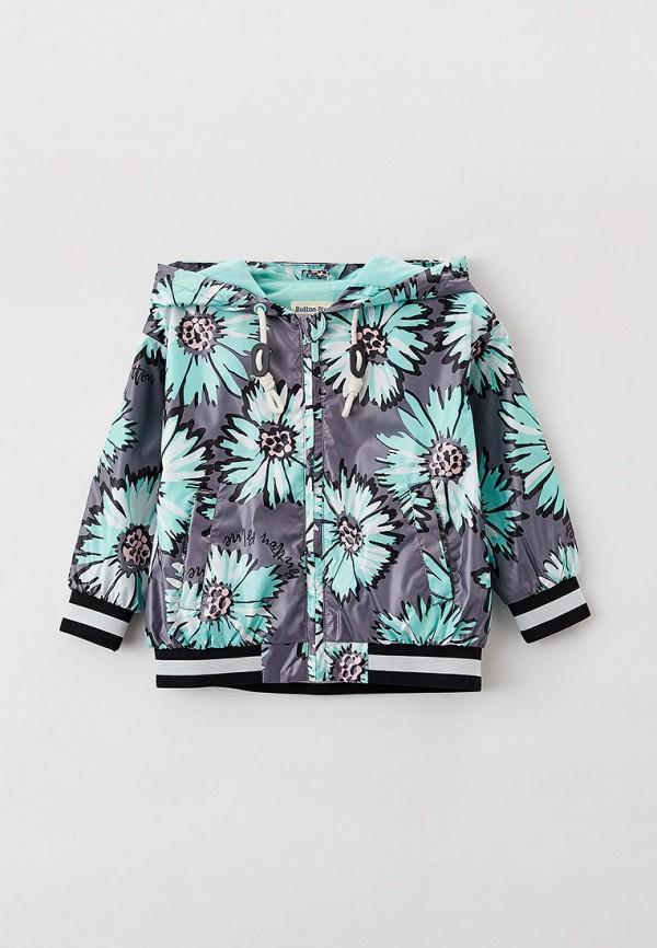 легкие куртка button blue для девочки, серая