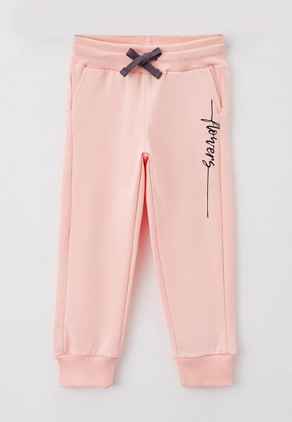 спортивные брюки button blue для девочки, розовые