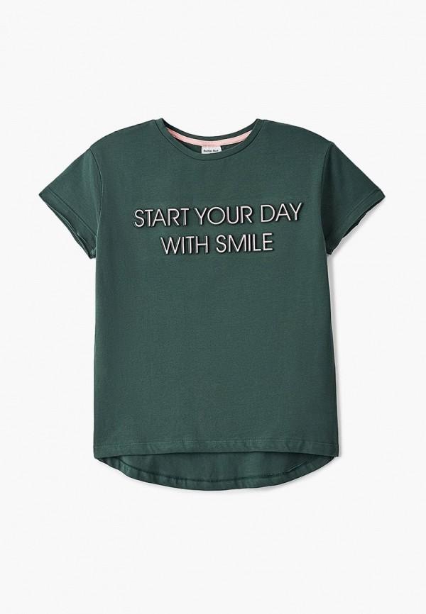 футболка с коротким рукавом button blue для девочки, зеленая