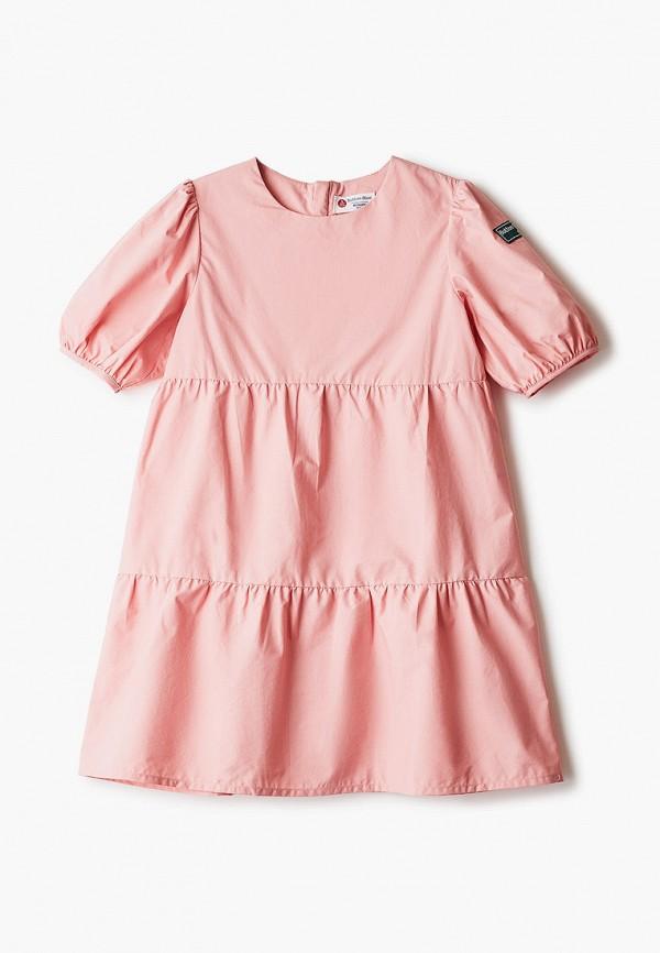 повседневные платье button blue для девочки, розовое