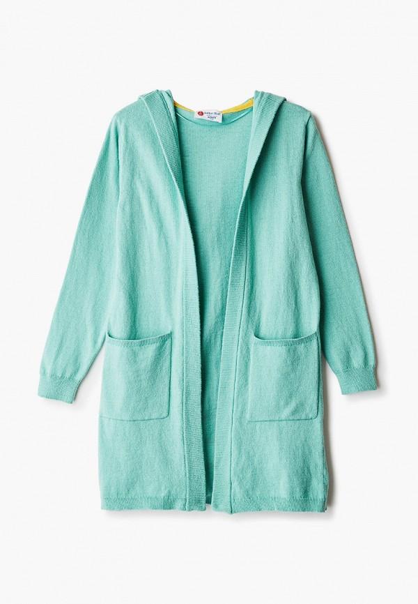 кардиган button blue для девочки, зеленый