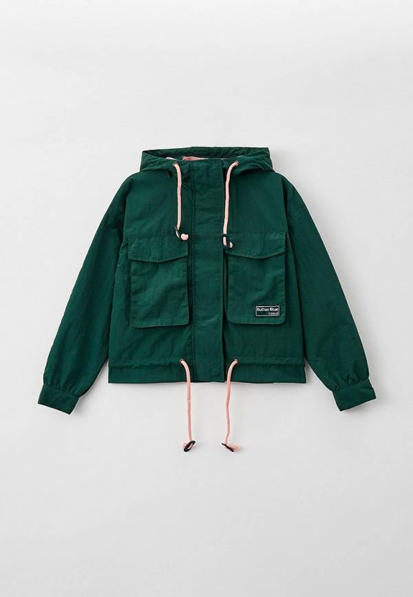 легкие куртка button blue для девочки, зеленая