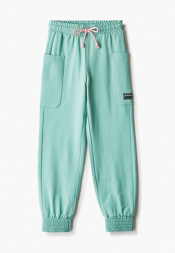 спортивные брюки button blue для девочки, зеленые
