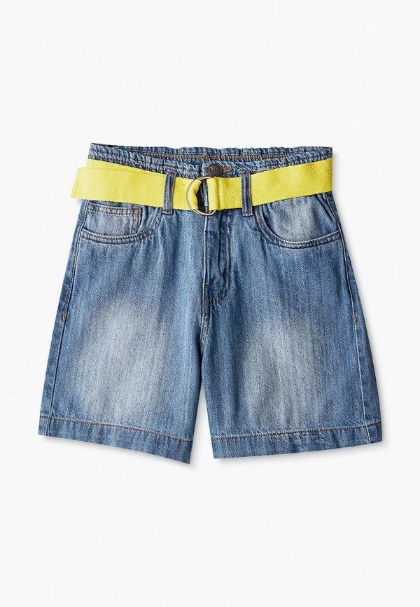 джинсовые шорты button blue для девочки, голубые
