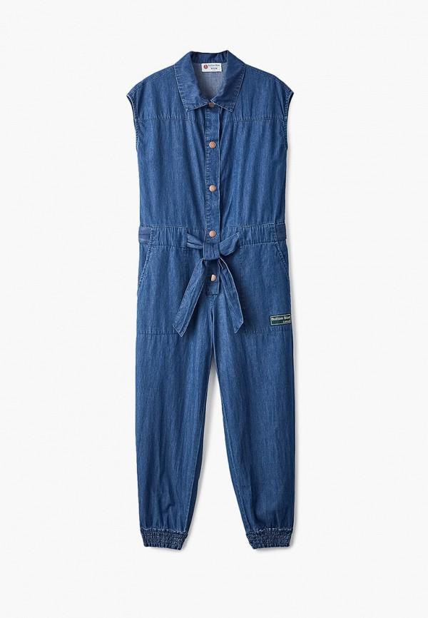 джинсовые комбинезон button blue для девочки, синий