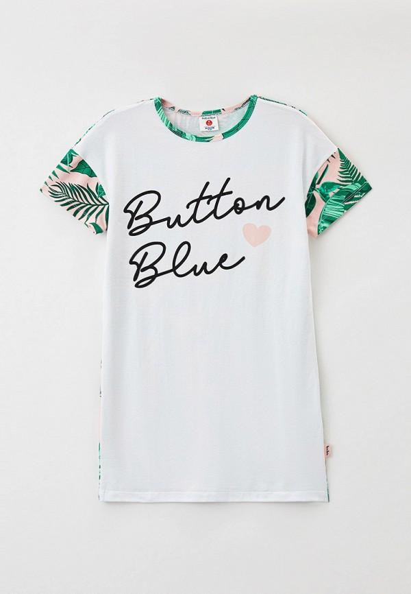 сорочка ночная button blue для девочки, белые