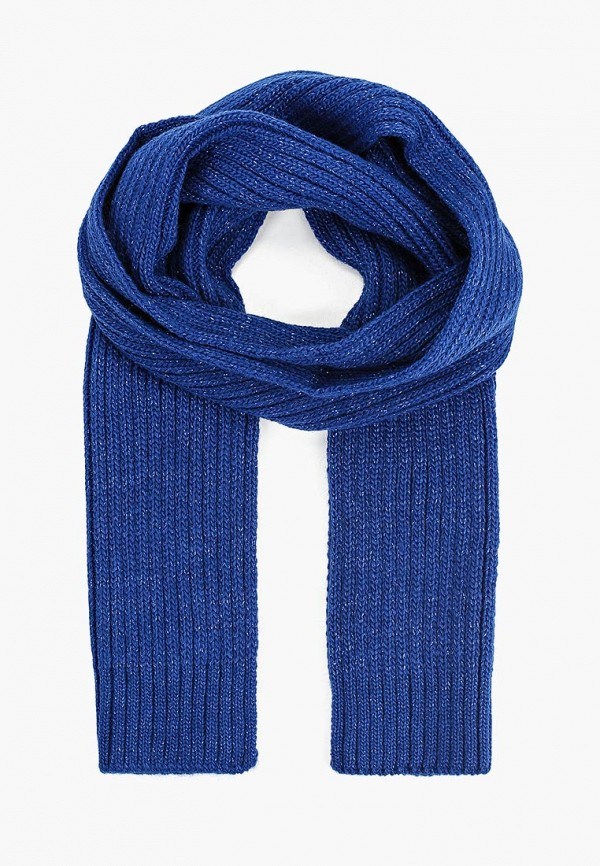 шарф button blue для девочки, синий