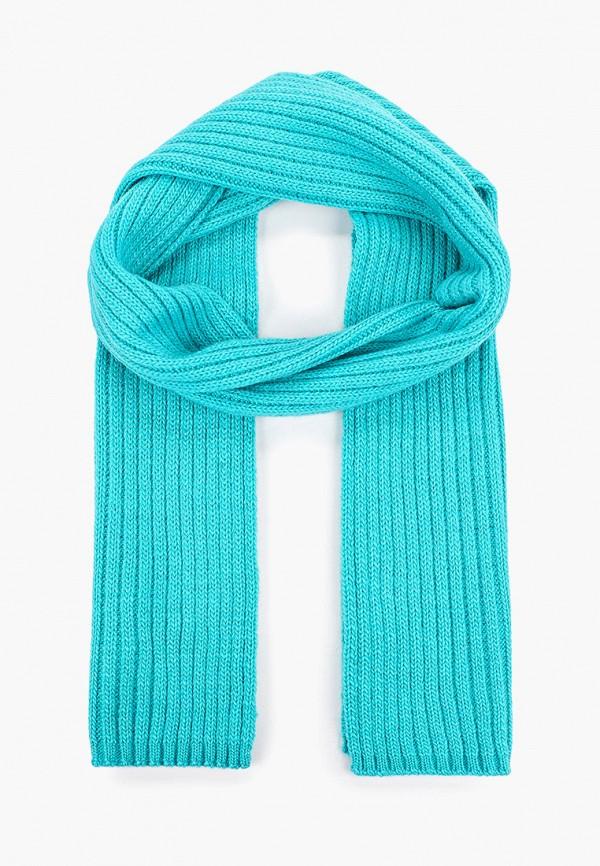 шарф button blue для девочки, бирюзовый