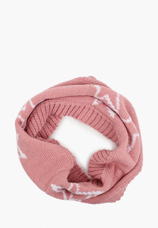 снуд button blue для девочки, розовый
