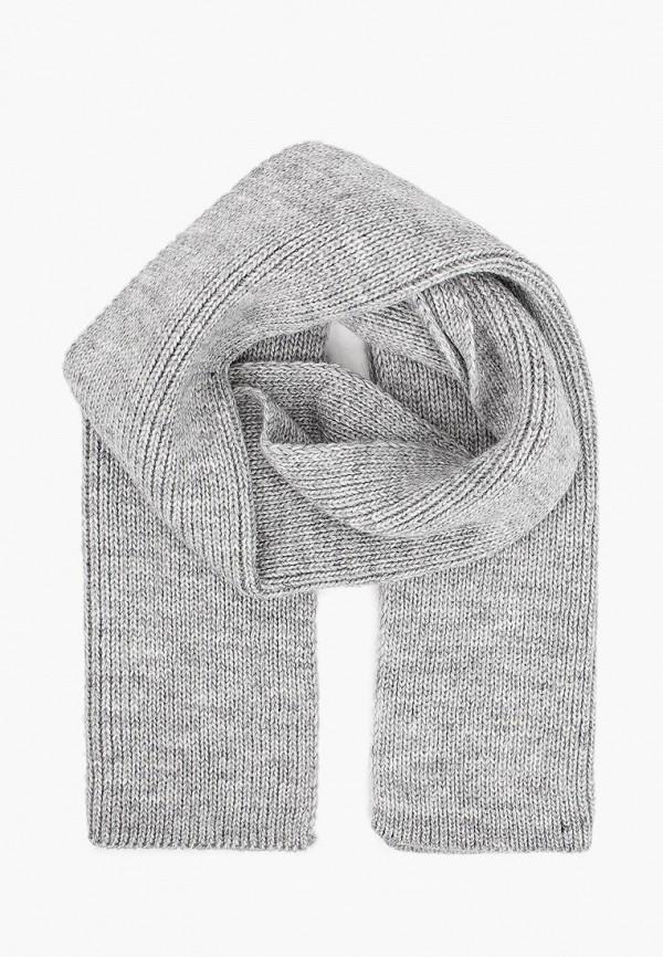 шарф button blue для девочки, серый