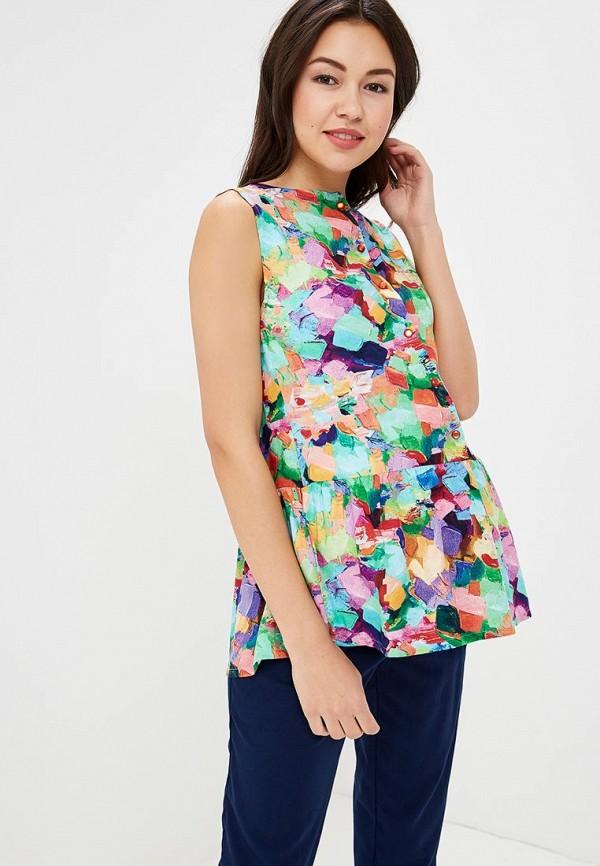 Купить Блуза BuduMamoy, BU022EWBPRC1, разноцветный, Весна-лето 2018