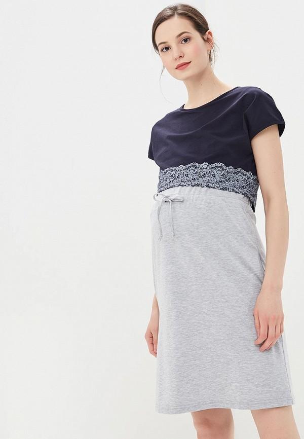 Купить Платье BuduMamoy, BU022EWCBXO1, серый, Весна-лето 2018
