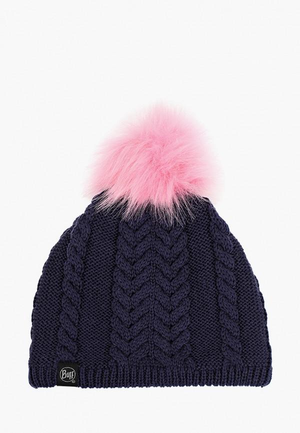 шапка buff для девочки, синяя