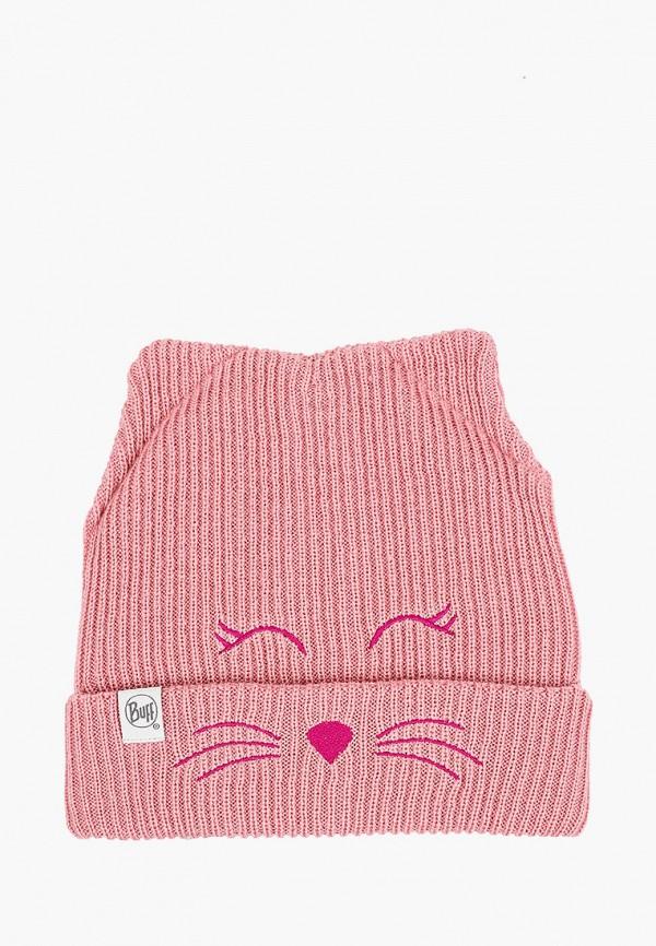шапка buff для девочки, розовая