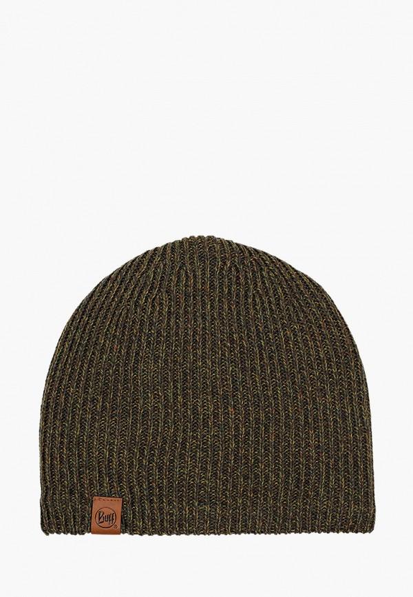 женская шапка buff, зеленая