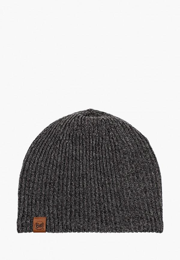 женская шапка buff, серая