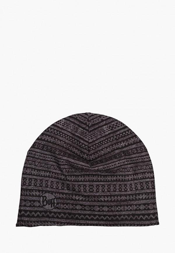 женская шапка buff, черная