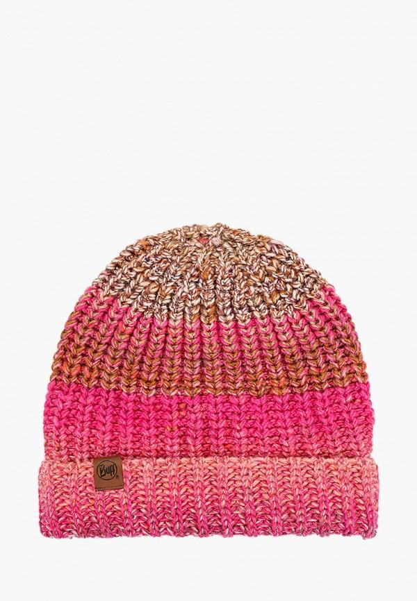 женская шапка buff, розовая