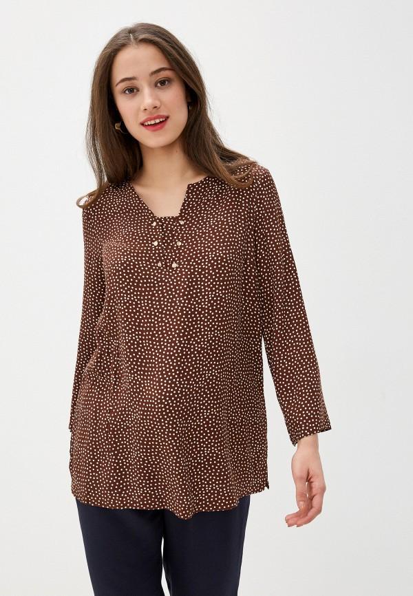 женская блузка с длинным рукавом bulmer, коричневая