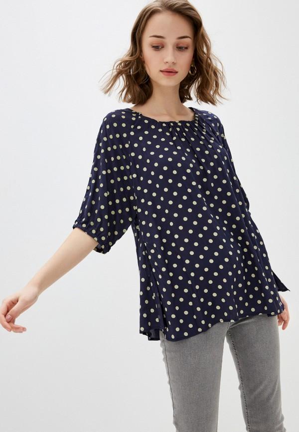 женская блузка с коротким рукавом bulmer, синяя