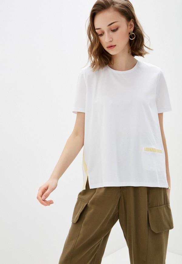 женская блузка с коротким рукавом bulmer, белая