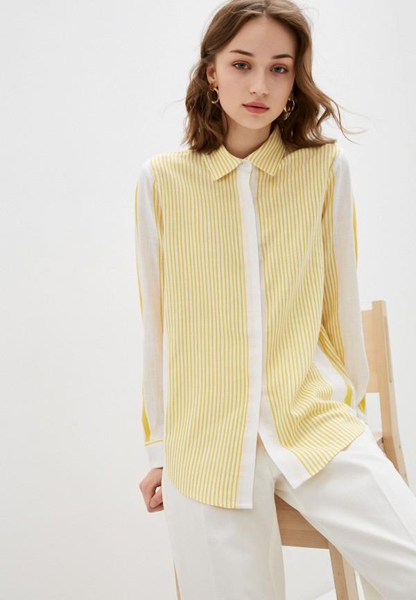 женская рубашка с длинным рукавом bulmer, желтая