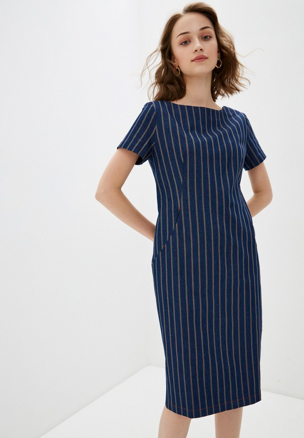 женское платье-футляр bulmer, синее