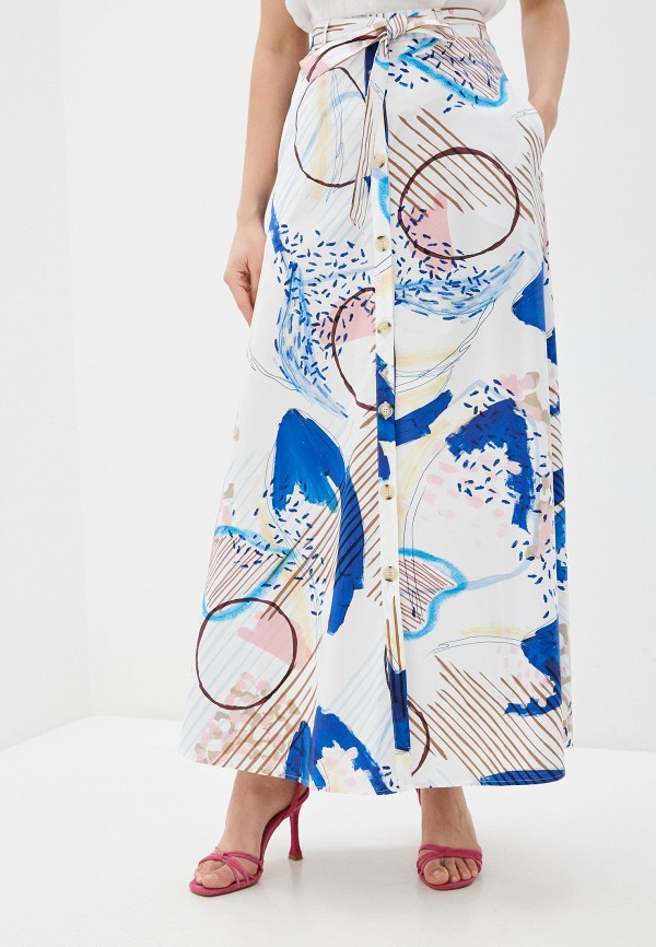 женская юбка-трапеции bulmer, белая