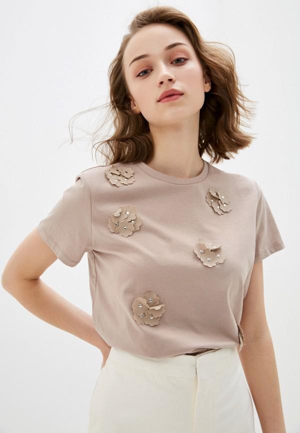 женская футболка bulmer, бежевая
