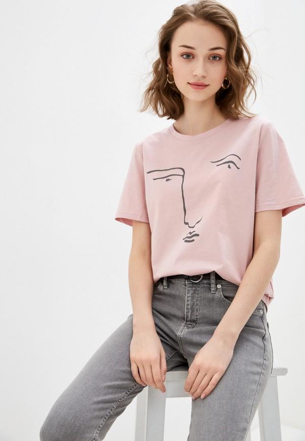 женская футболка bulmer, розовая