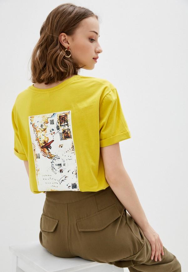 женская футболка bulmer, желтая