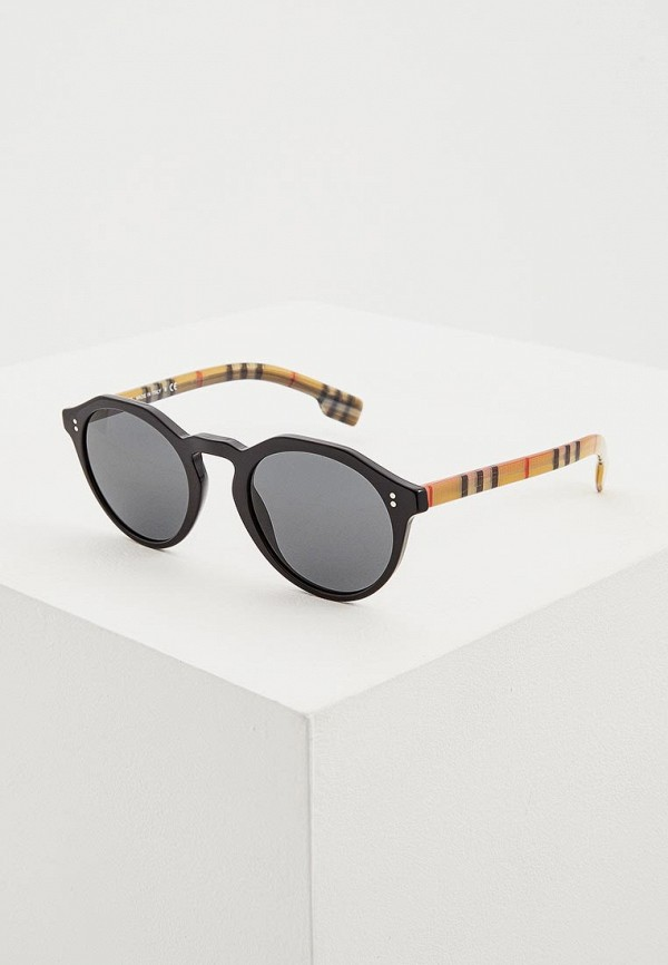 мужские круглые солнцезащитные очки burberry, черные