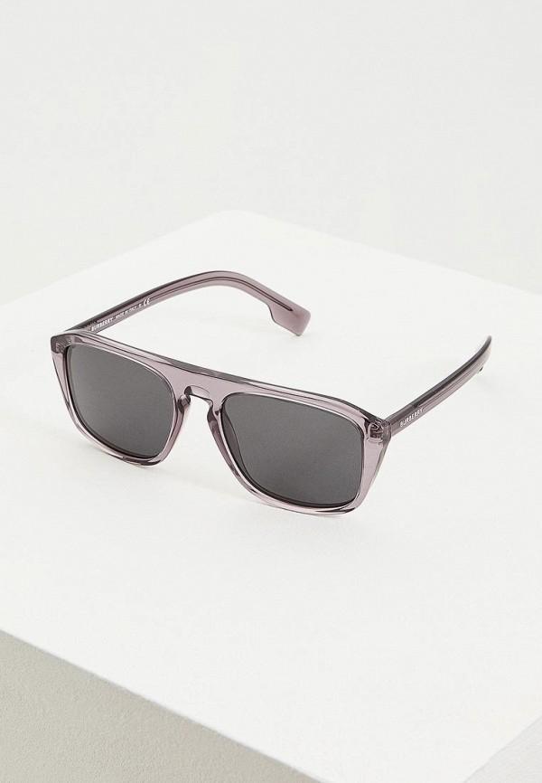 мужские квадратные солнцезащитные очки burberry, серые