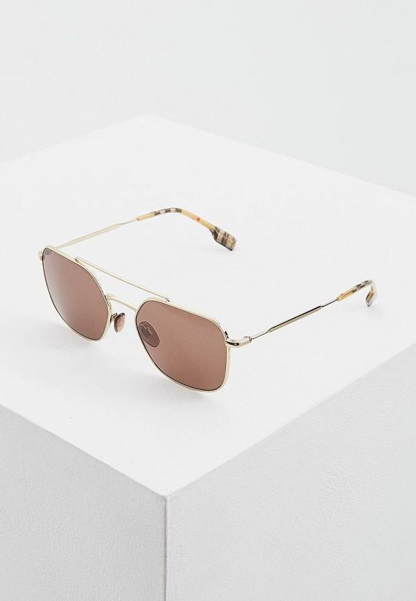 мужские солнцезащитные очки burberry, коричневые