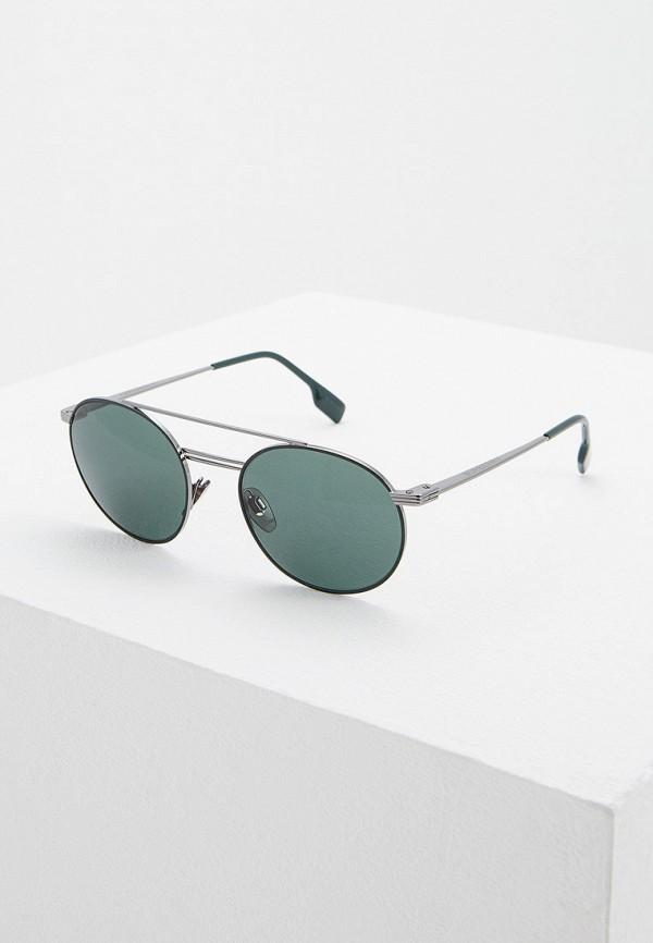 мужские солнцезащитные очки burberry, серебряные