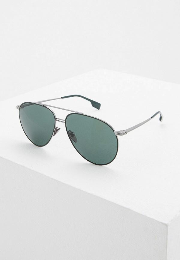 мужские авиаторы солнцезащитные очки burberry, серые