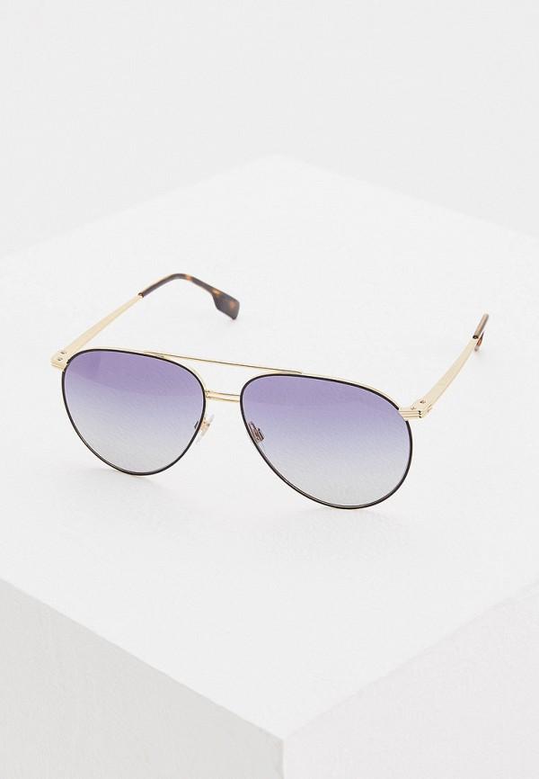 мужские солнцезащитные очки burberry, золотые