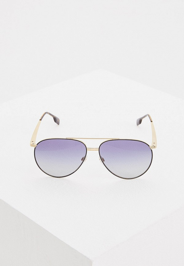 Фото 2 - Очки солнцезащитные Burberry золотого цвета