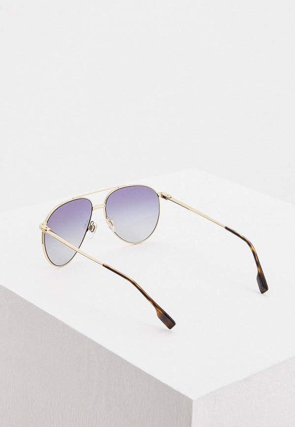 Фото 3 - Очки солнцезащитные Burberry золотого цвета