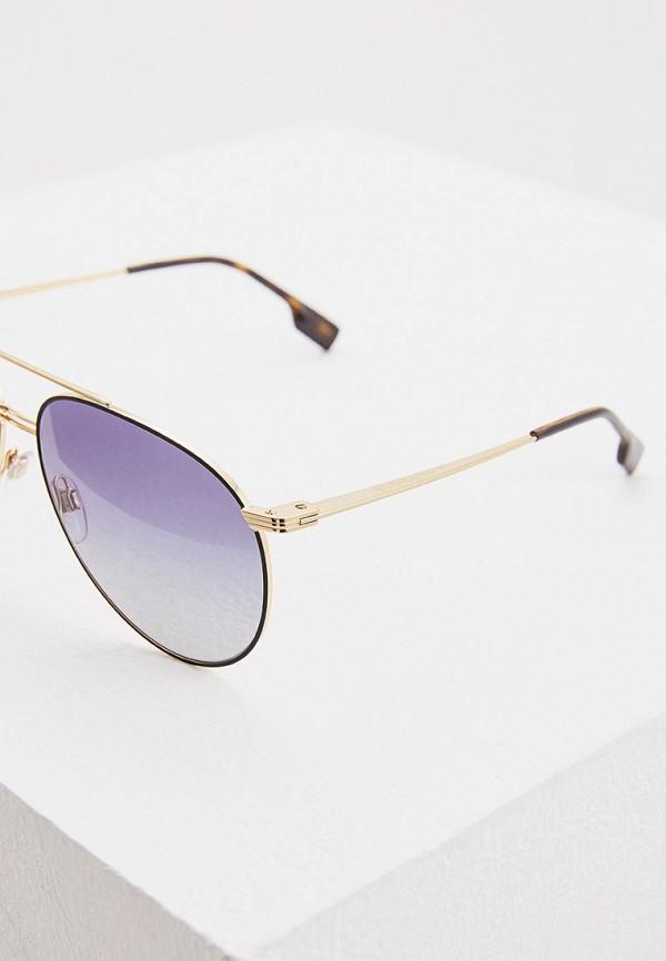 Фото 4 - Очки солнцезащитные Burberry золотого цвета