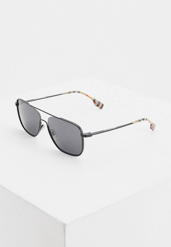 мужские квадратные солнцезащитные очки burberry, черные