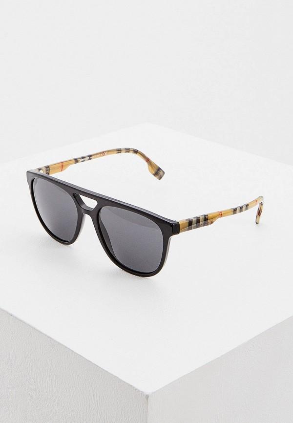 мужские авиаторы солнцезащитные очки burberry, черные