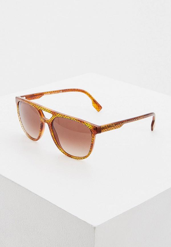 мужские квадратные солнцезащитные очки burberry, коричневые