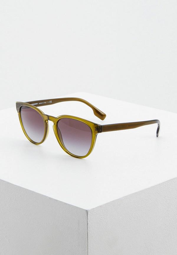мужские круглые солнцезащитные очки burberry, зеленые