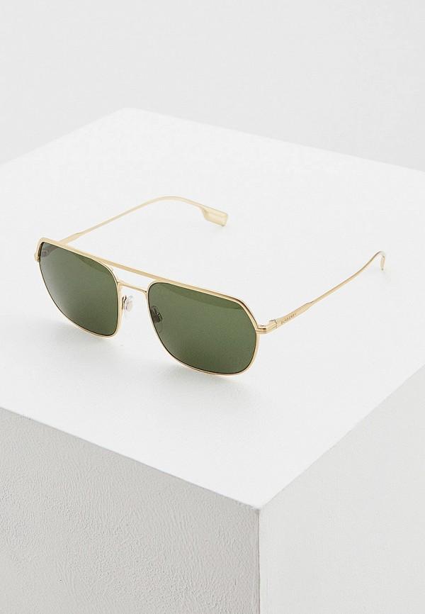 мужские квадратные солнцезащитные очки burberry, золотые